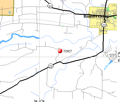 Booneville, AR (72927) map