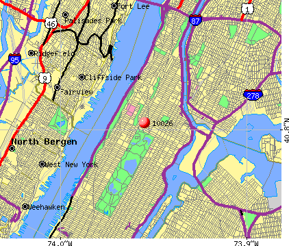 New York, NY (10026) map