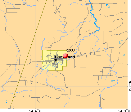 Hartford, AR (72938) map