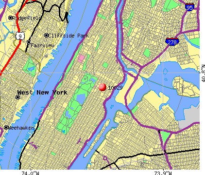 New York, NY (10029) map