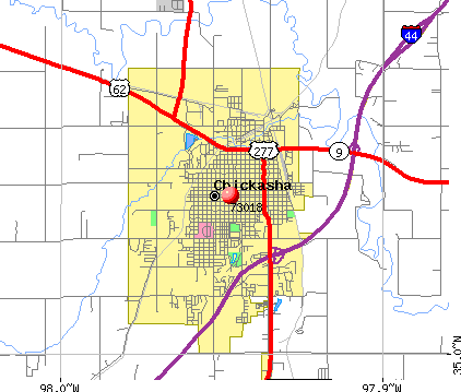 Chickasha, OK (73018) map