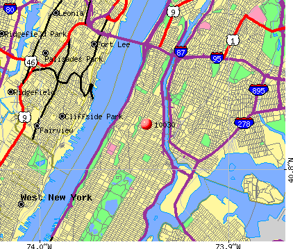 New York, NY (10030) map