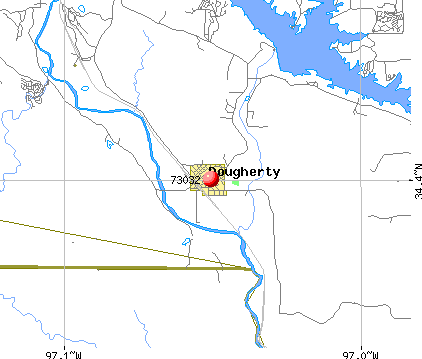 Dougherty, OK (73032) map