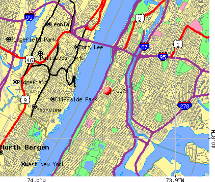 New York, NY (10031) map