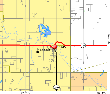 Harrah, OK (73045) map
