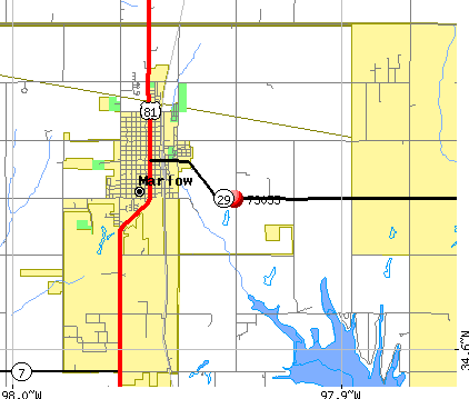 Bray, OK (73055) map