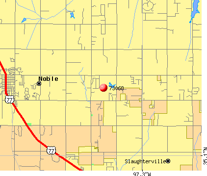 Slaughterville, OK (73068) map