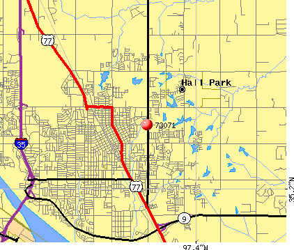 Norman, OK (73071) map