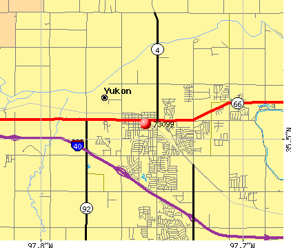 Oklahoma City, OK (73099) map