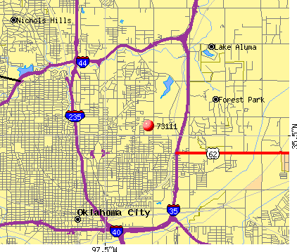 Oklahoma City, OK (73111) map