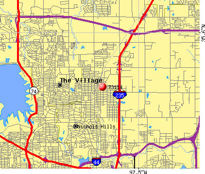 Oklahoma City, OK (73114) map