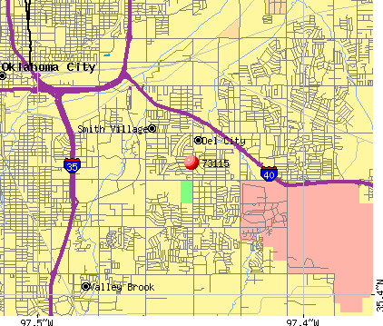 Del City, OK (73115) map