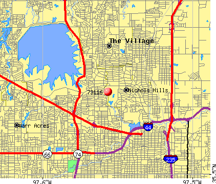 Oklahoma City, OK (73116) map