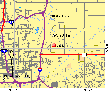 Oklahoma City, OK (73121) map