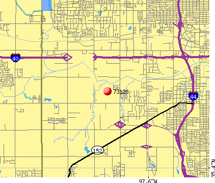 Oklahoma City, OK (73128) map