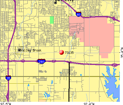 Oklahoma City, OK (73135) map
