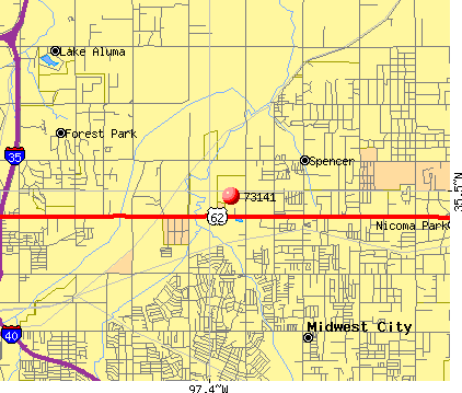 Oklahoma City, OK (73141) map