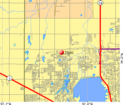 Oklahoma City, OK (73142) map