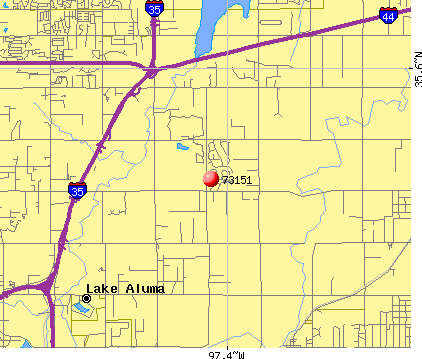 Oklahoma City, OK (73151) map