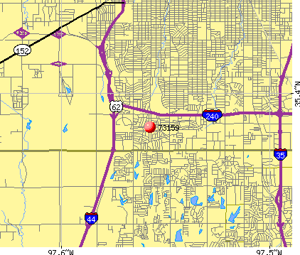 Oklahoma City, OK (73159) map