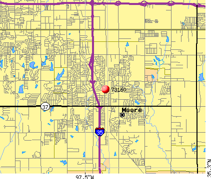 Moore, OK (73160) map