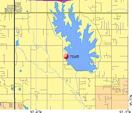Oklahoma City, OK (73165) map