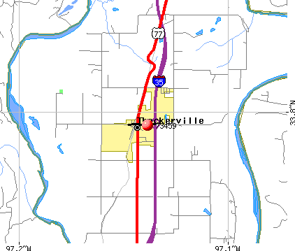 Thackerville, OK (73459) map