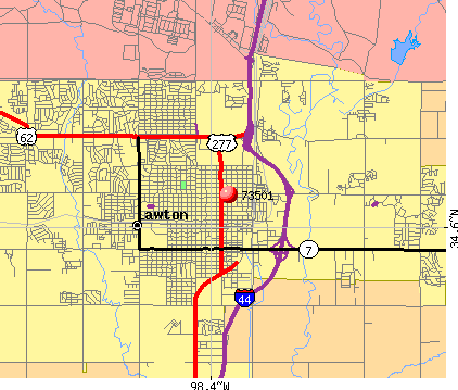 Lawton, OK (73501) map