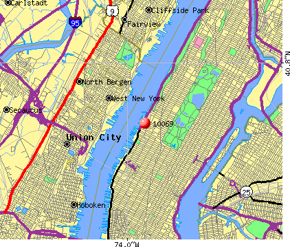 New York, NY (10069) map