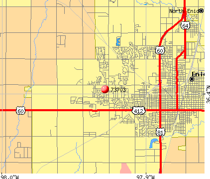 Enid, OK (73703) map
