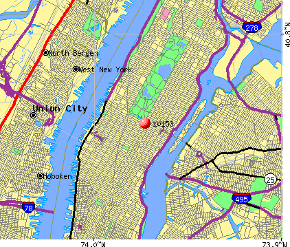 New York, NY (10153) map