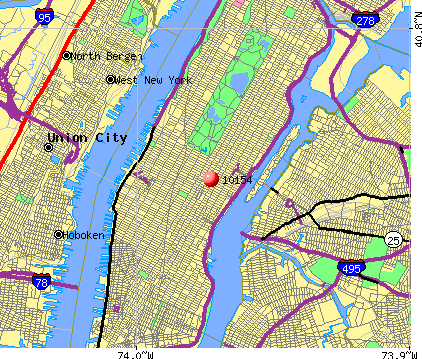 New York, NY (10154) map
