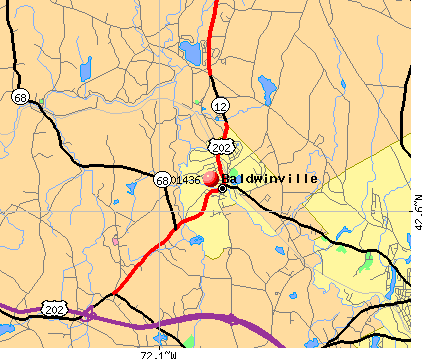 Baldwinville, MA (01436) map