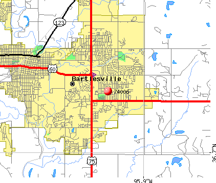 Bartlesville, OK (74006) map