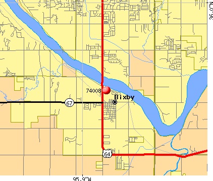 Bixby, OK (74008) map