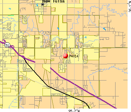 Broken Arrow, OK (74014) map