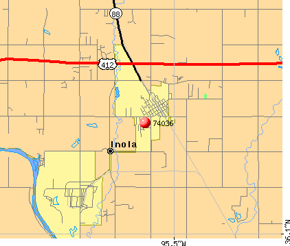 Inola, OK (74036) map