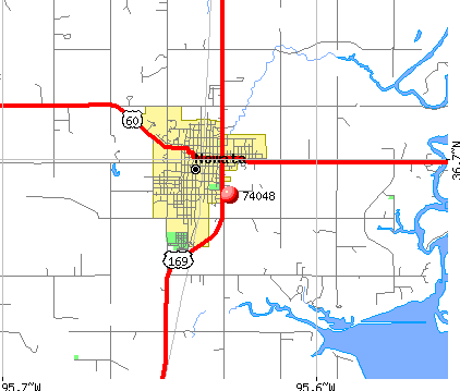 Nowata, OK (74048) map