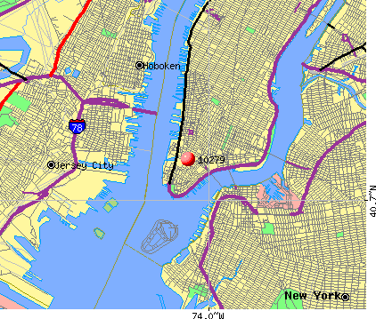 New York, NY (10279) map