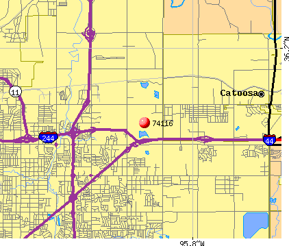 Tulsa, OK (74116) map