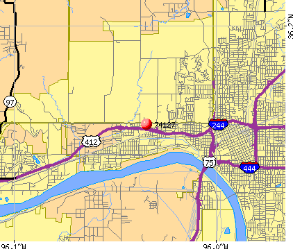 Tulsa, OK (74127) map