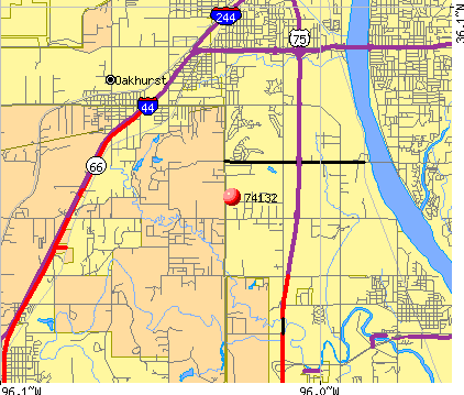 Tulsa, OK (74132) map