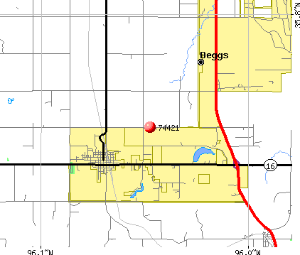 Winchester, OK (74421) map