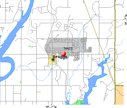 River Bottom, OK (74423) map