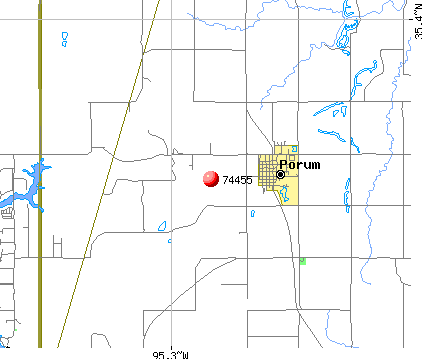 Simms, OK (74455) map