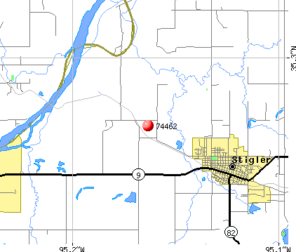 Longtown, OK (74462) map