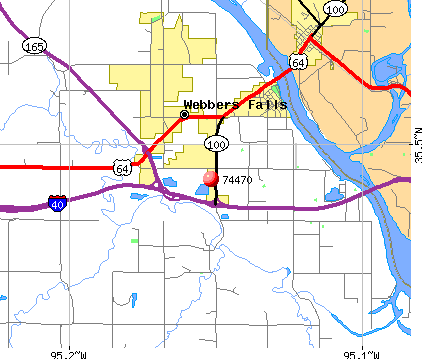 Simms, OK (74470) map