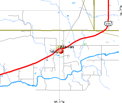 Albion, OK (74521) map