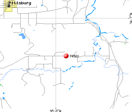 Pittsburg, OK (74560) map