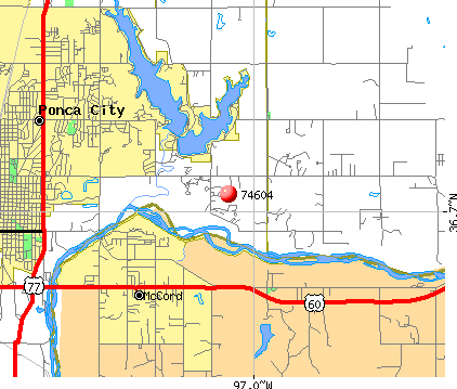 Ponca City, OK (74604) map